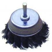 Щетка крацовка для УШМ (мягкий латунный ворс) 65 мм