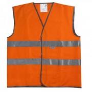 Жилет сигнальный на липучке XL( оранжевый)