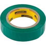 Изолента STAYER 'MASTER' зеленая, ПВХ, 5000 В, 15мм х 10м