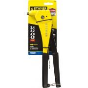 Заклепочник STAYER 'RX600' PRO-Fix для алюминиевых и стальных заклёпок d=2,4 / 3,2 / 4,0 / 4,8 мм, литой корпус