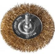 DEXX. Щетка дисковая для дрели, витая стальная латунированная проволока 0,3мм, 75мм