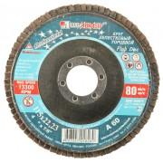 Круг лепестковый торцевой абразивный 'Луга' для шлифования, 115 х 22,23мм, зерно P60