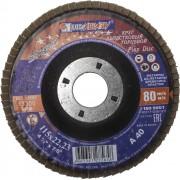Круг лепестковый торцевой абразивный 'Луга' для шлифования, 115 х 22,23мм, зерно P40