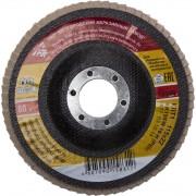 Круг лепестковый торцевой 'БАЗ' для шлифования, тип КЛТ 1, KK19XW, зерно-электрокорунд нормальный, P80, 115 х 22 мм